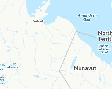 North Arrow On Map Of Canada.Place Names Tuktut Nogait National Park Of Canada
