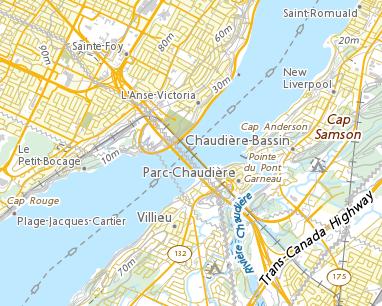 Place names - Pont de Québec on