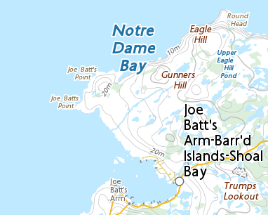 Map Of Canada Newfoundland.Place Names Killick Claw