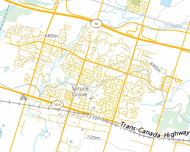 Spruce Grove Map Place names   Spruce Grove