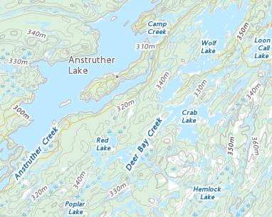 Kawartha Highlands Map Place names   Kawartha Highlands Provincial Park